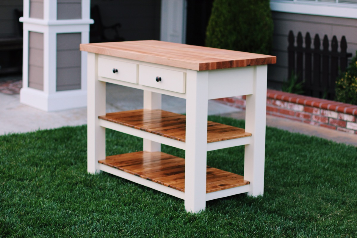 White Butcher Block Kitchen Table : Ana White Butcher Block Kitchen Island - DIY Projects