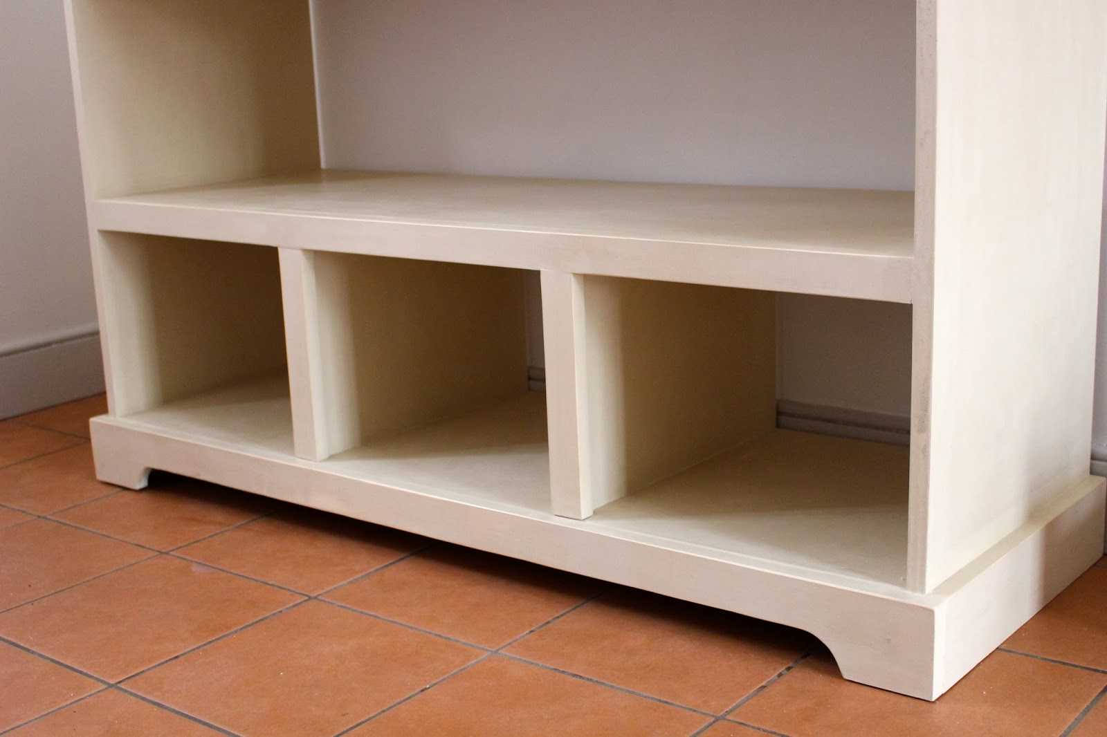 3 Drawer Open Shelf Simple Entryway Console