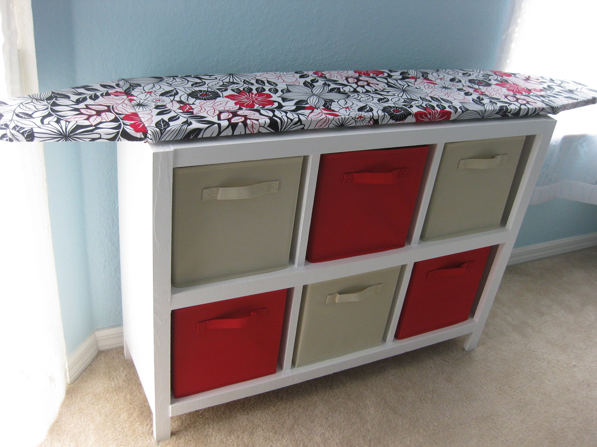 Cubby Shelf With Ironing Board Top