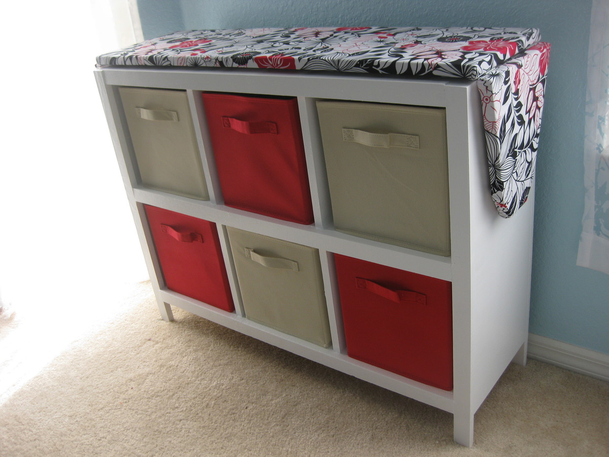 Ana White Cubby Shelf With Ironing Board Top Diy Projects
