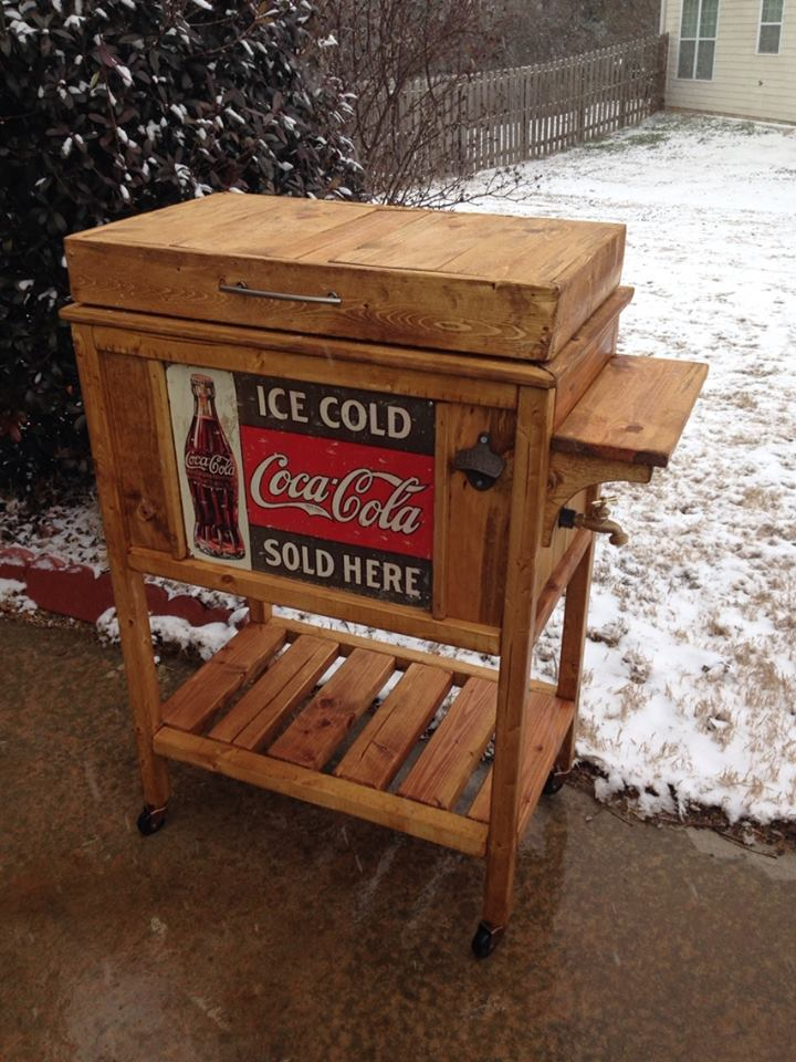 Ana White | DIY Wooden Cooler Stand - Vintage Look - DIY ...