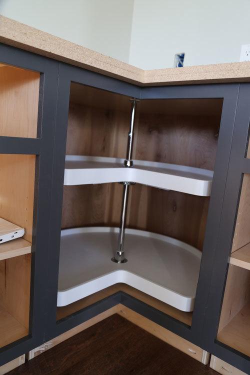 Easier 36 Corner Base Kitchen Cabinet Momplex Vanilla Kitchen Ana White