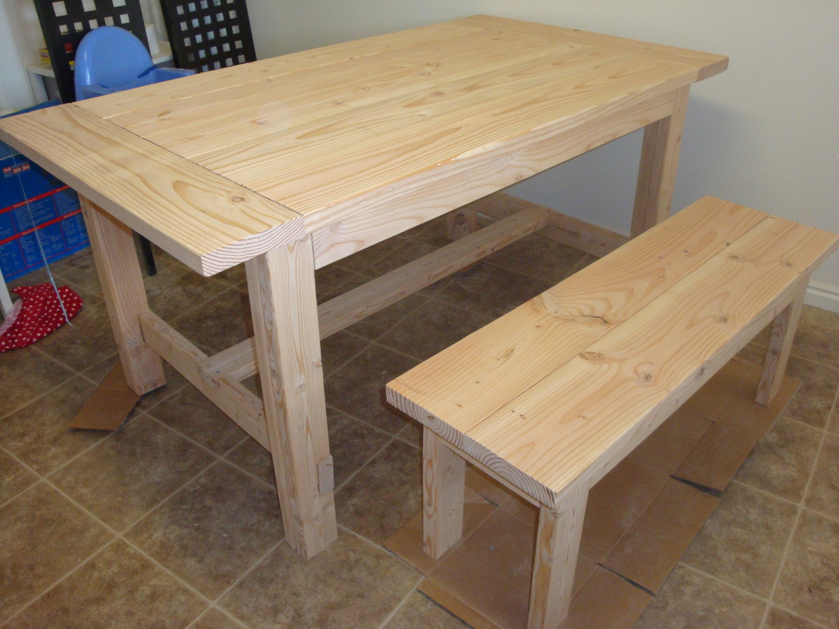 farmhouse table and bench do it yourself home projects from ana