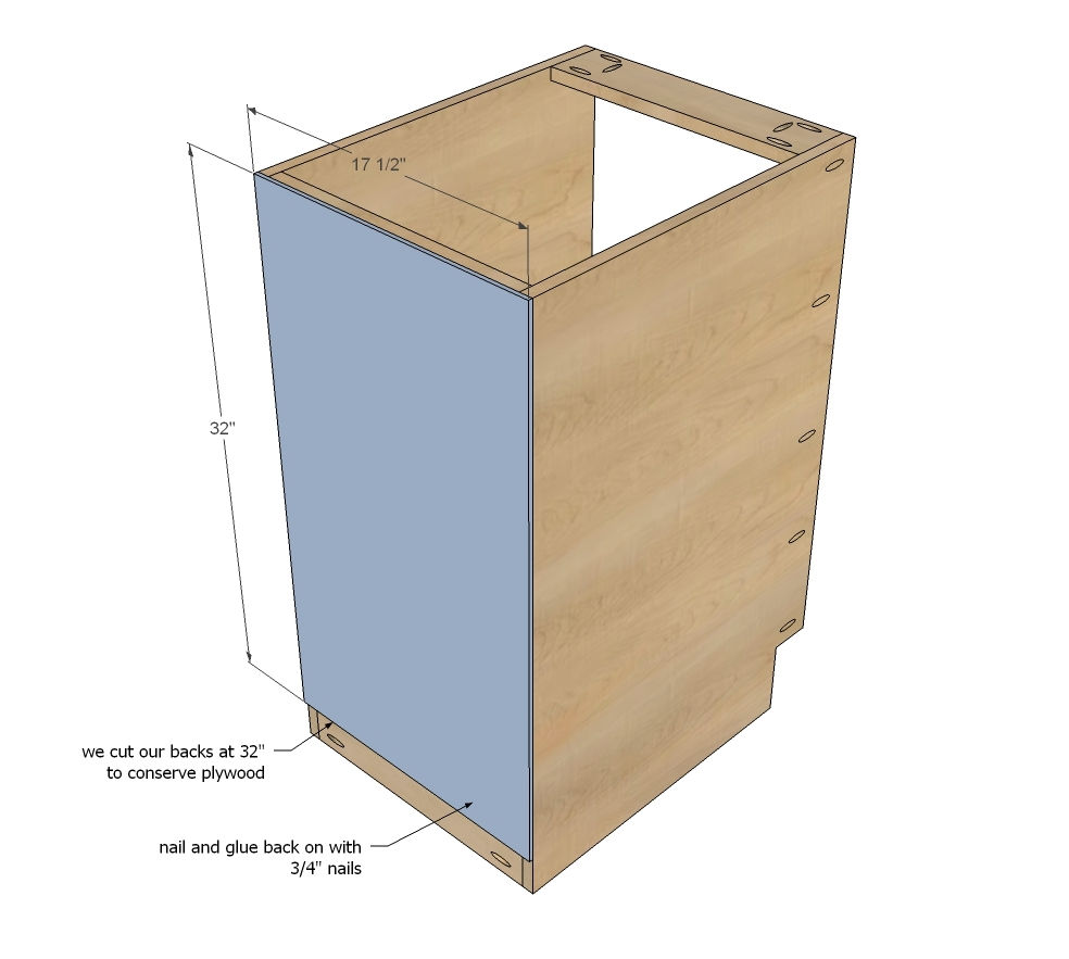 "Kitchen Cabinet Drawings: 18"" Kitchen Cabinet Drawer Base - DIY Projects"