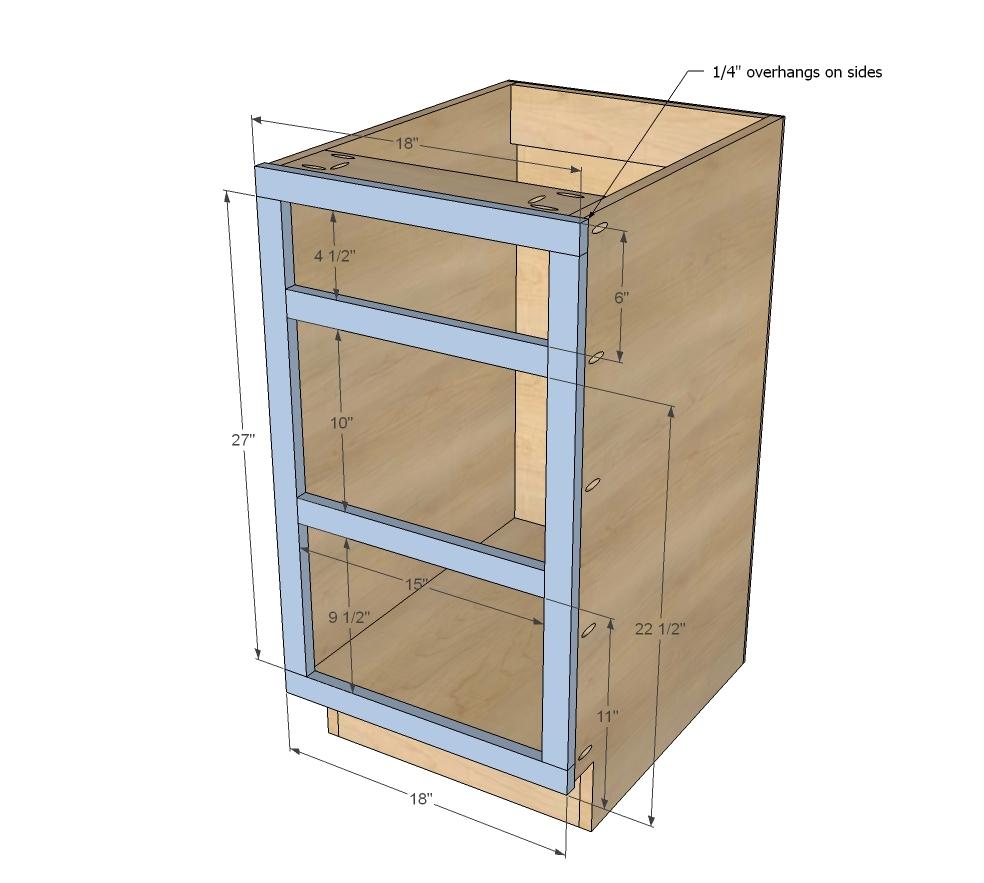 18 Kitchen Cabinet Drawer Base Ana White