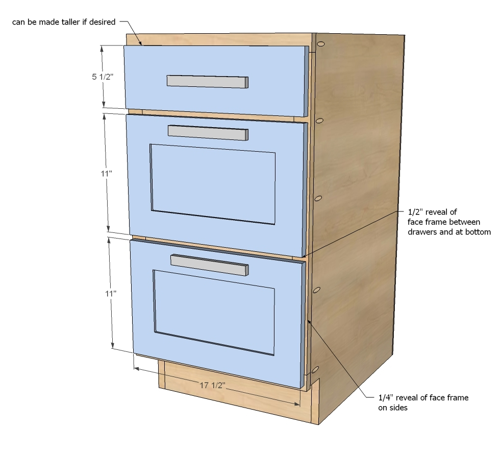 Ana white 18 kitchen cabinet drawer base diy projects for Kitchen cabinet plans