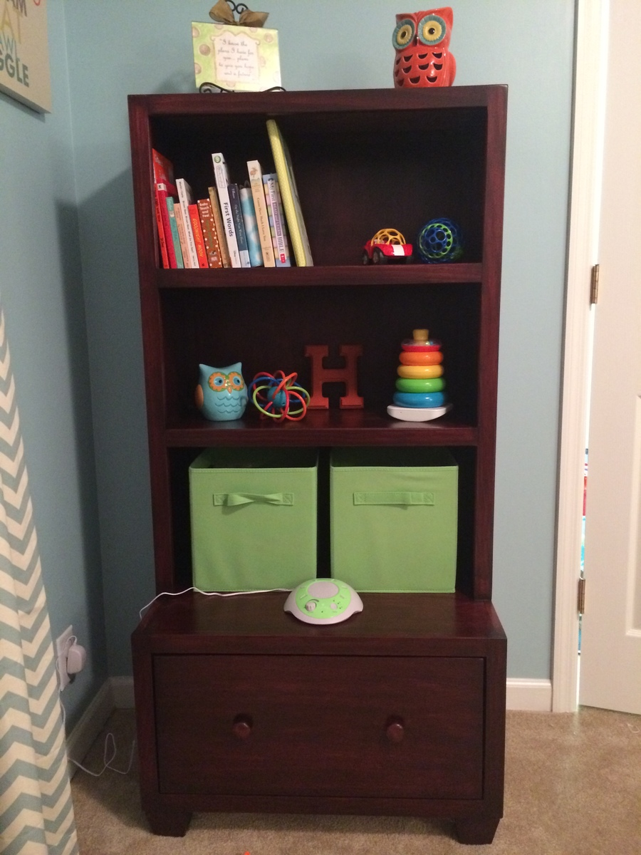 Ana White | Bookcase with large drawer beneath for my son ...