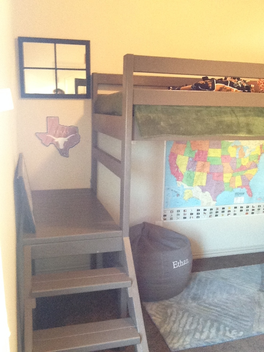 Ana White Camp Loft Bed Modified Height Diy Projects
