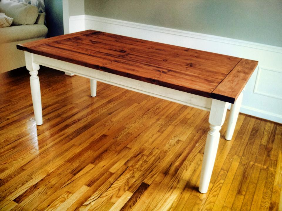 Ana white first build farmhouse table diy projects Diy farmhouse table
