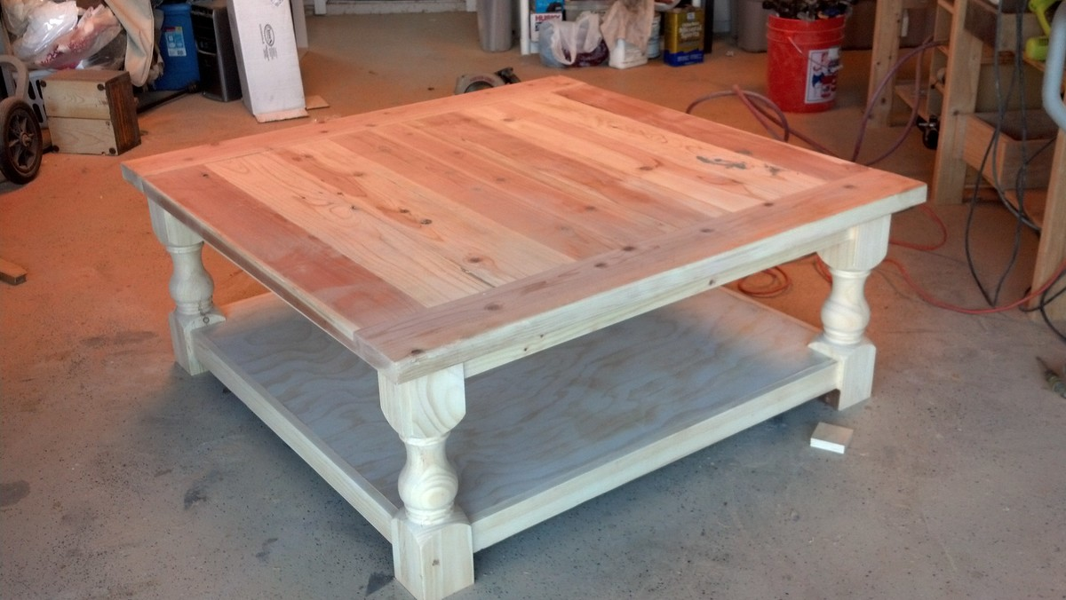 Ana White Pretty Massive Coffee Table Diy Projects