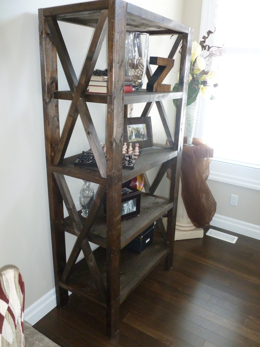 Ana White | Rustic Bookcase - DIY Projects