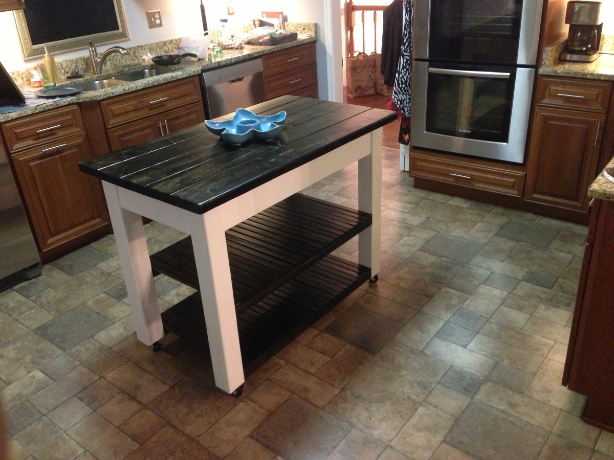 Ana White | Rolling Kitchen Island - DIY Projects
