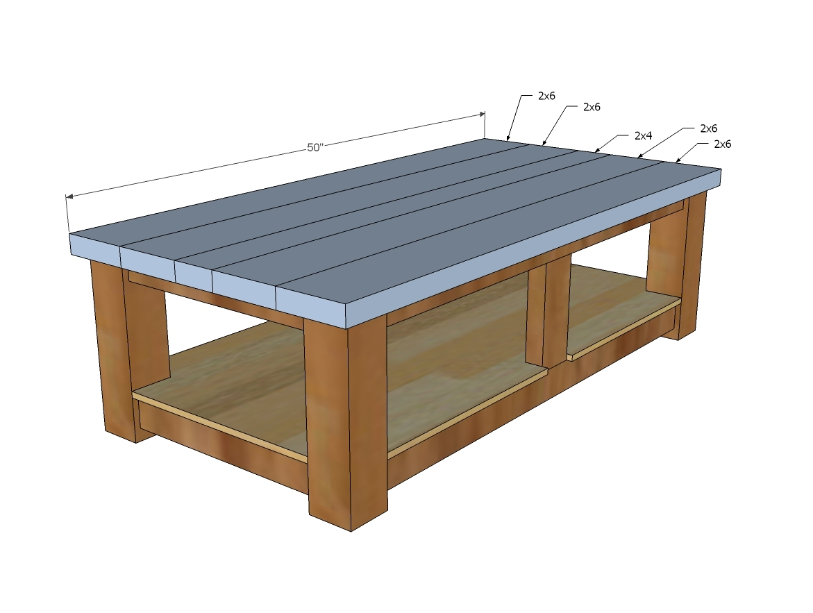 Ana white taylors coffee table diy projects for Coffee table instructions