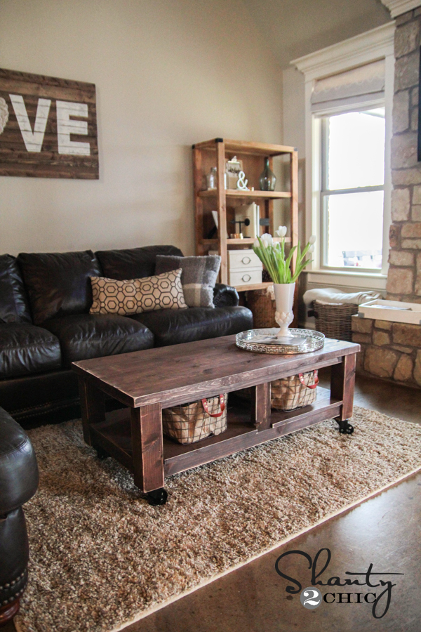 Ana White Taylors Coffee Table DIY Projects - Pottery barn couch table