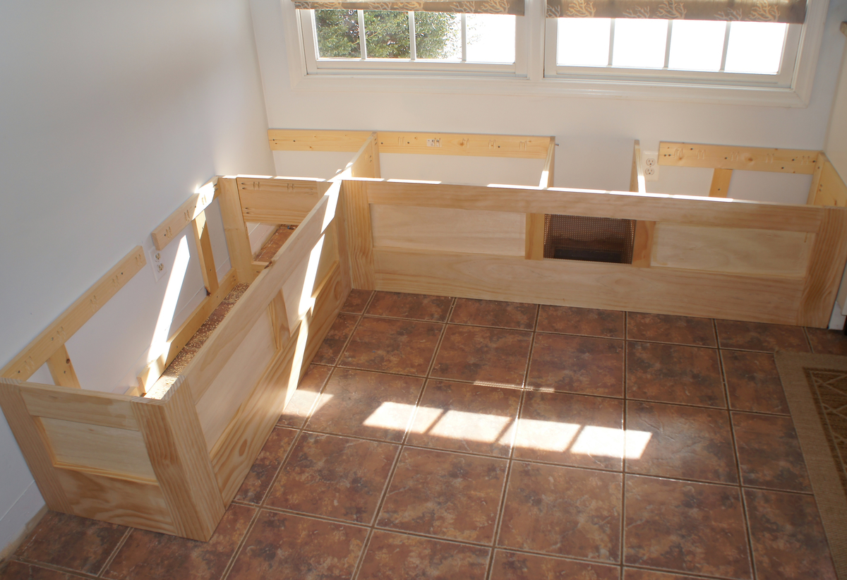 exceptional How To Build A Booth Bench Part - 15: Built In Storage Bench