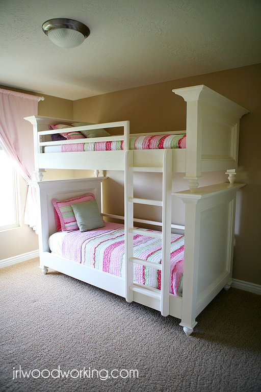 Ana White | Bunk Beds, Twin Size with Raised Panel - DIY ...