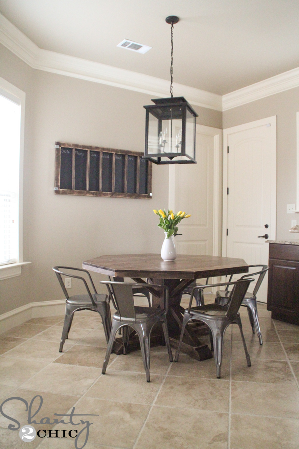 Ana White Benchmark Octagon Table DIY Projects