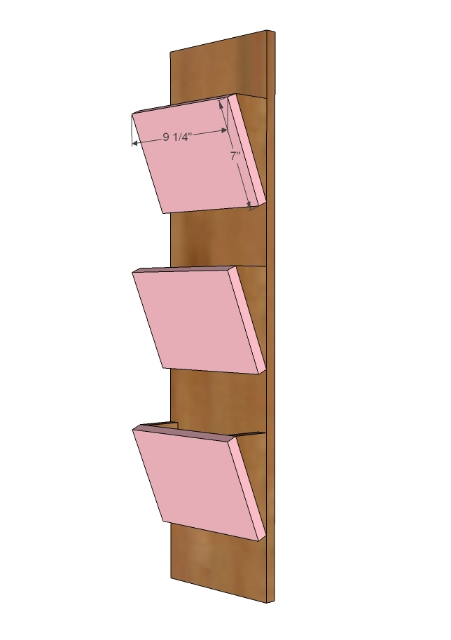 Ana white wood mail sorter with key hooks diy projects attach the triangle braces to the back of all of the facings these will be the mail slots attach using wood glue and nailer solutioingenieria Choice Image