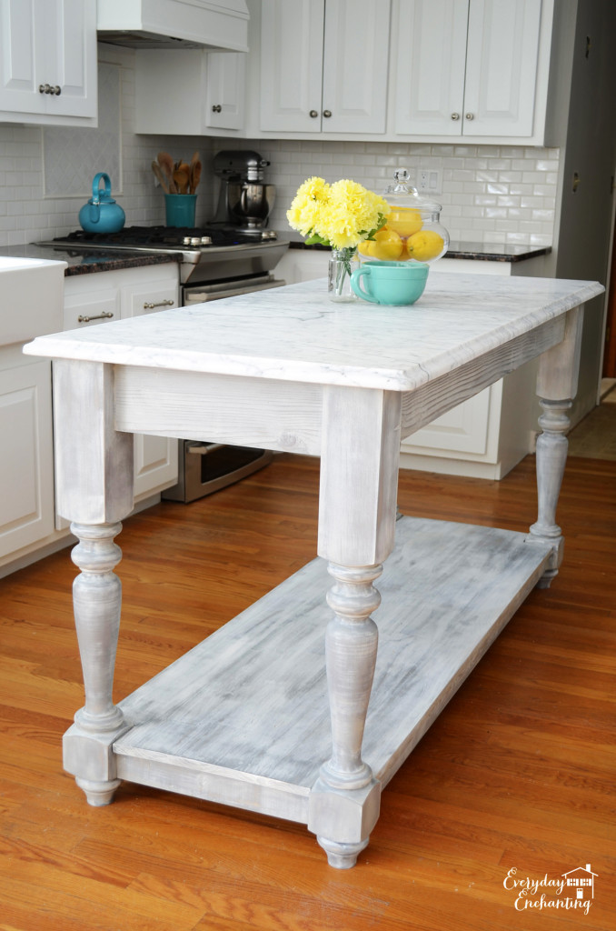 Ana white modified kitchen island from the handbuilt for Kitchen island plans pdf