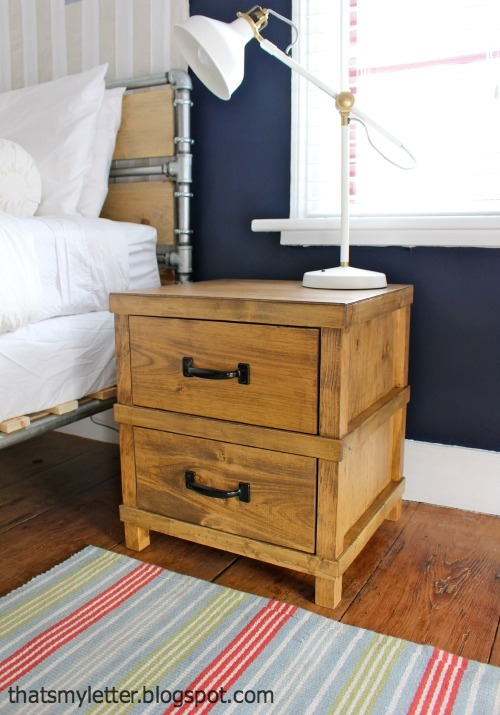 ana white | owens nightstand - diy projects How to Make a Bedside Table