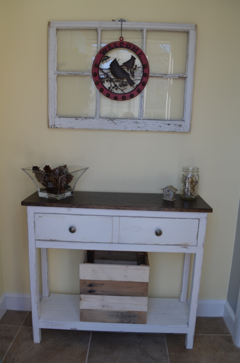 entryway table blogger white utah jen lifestyle rose by
