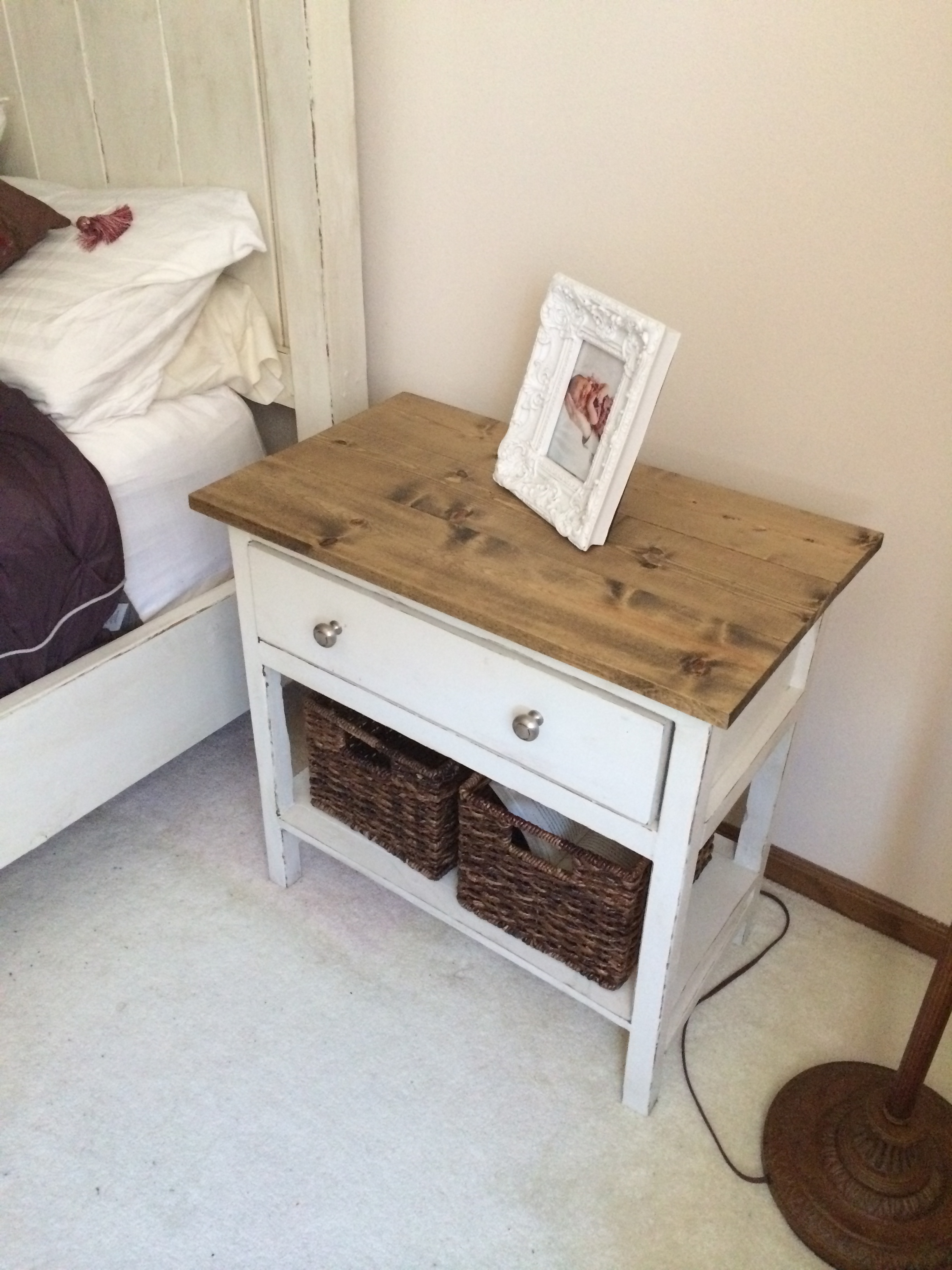 projects white table diy tables farmhouse ana end