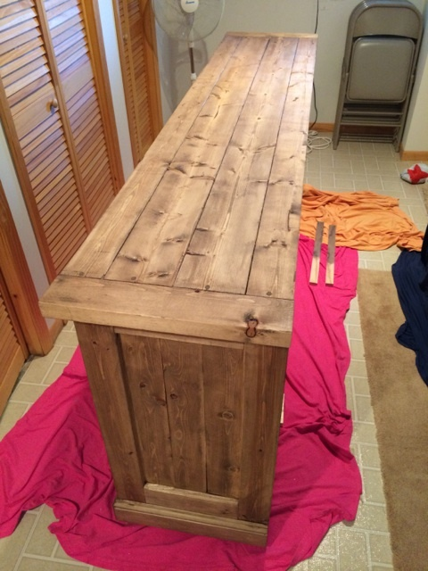 Planked Wood Sideboard - Rustic Yet Refined
