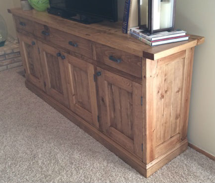 Ana White Planked Wood Sideboard Rustic Yet Refined