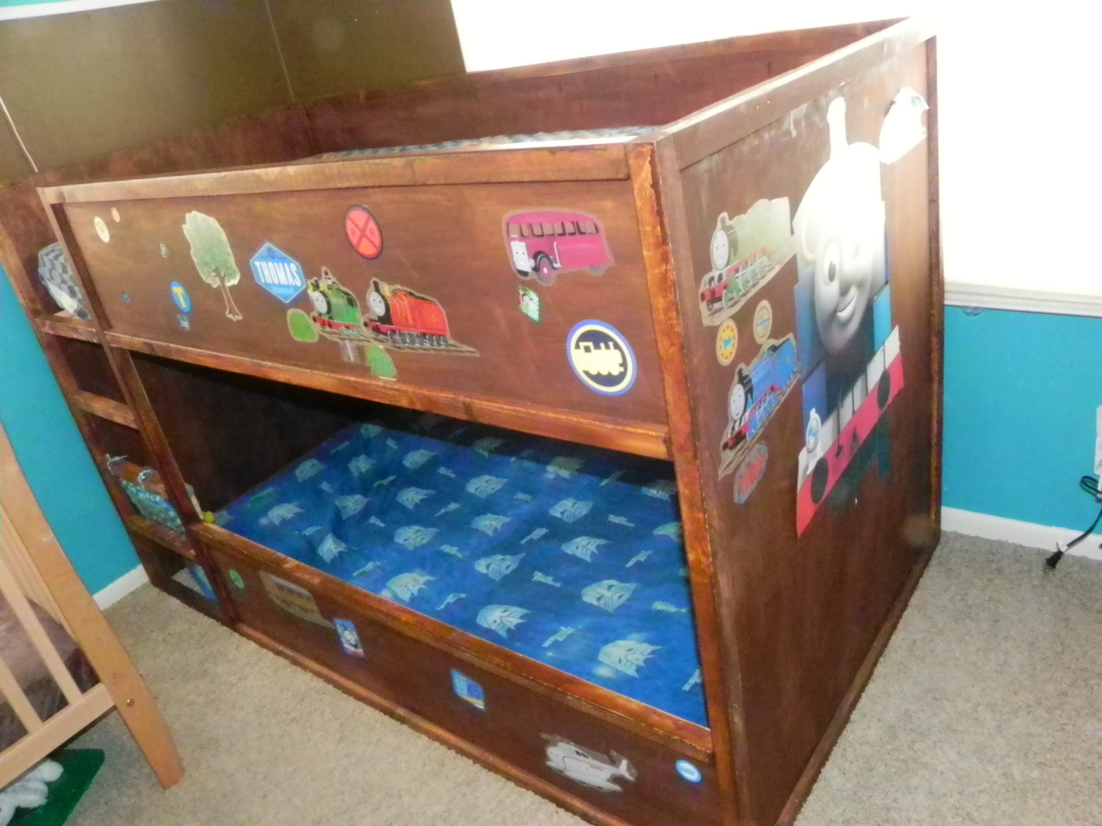 Ana White Thomas Train Bunk Bed Diy Projects
