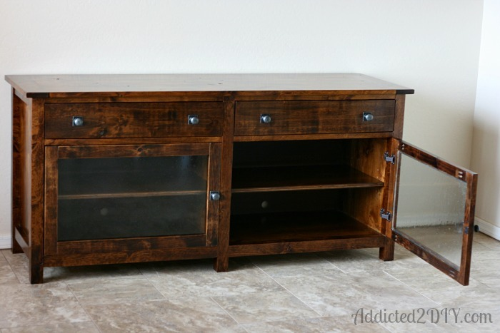 Ana White Pottery Barn Inspired Media Console Diy Projects