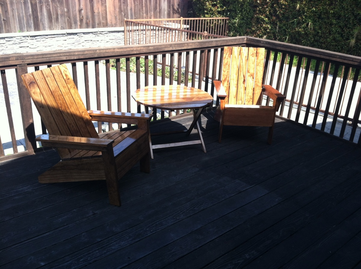 Patio Adirondack Chairs And Patio Table From Ana S Plans