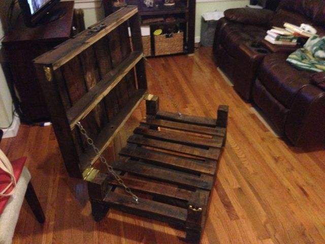 Ana White Pallet Rustic Coffee Table with Hinge Top DIY Projects