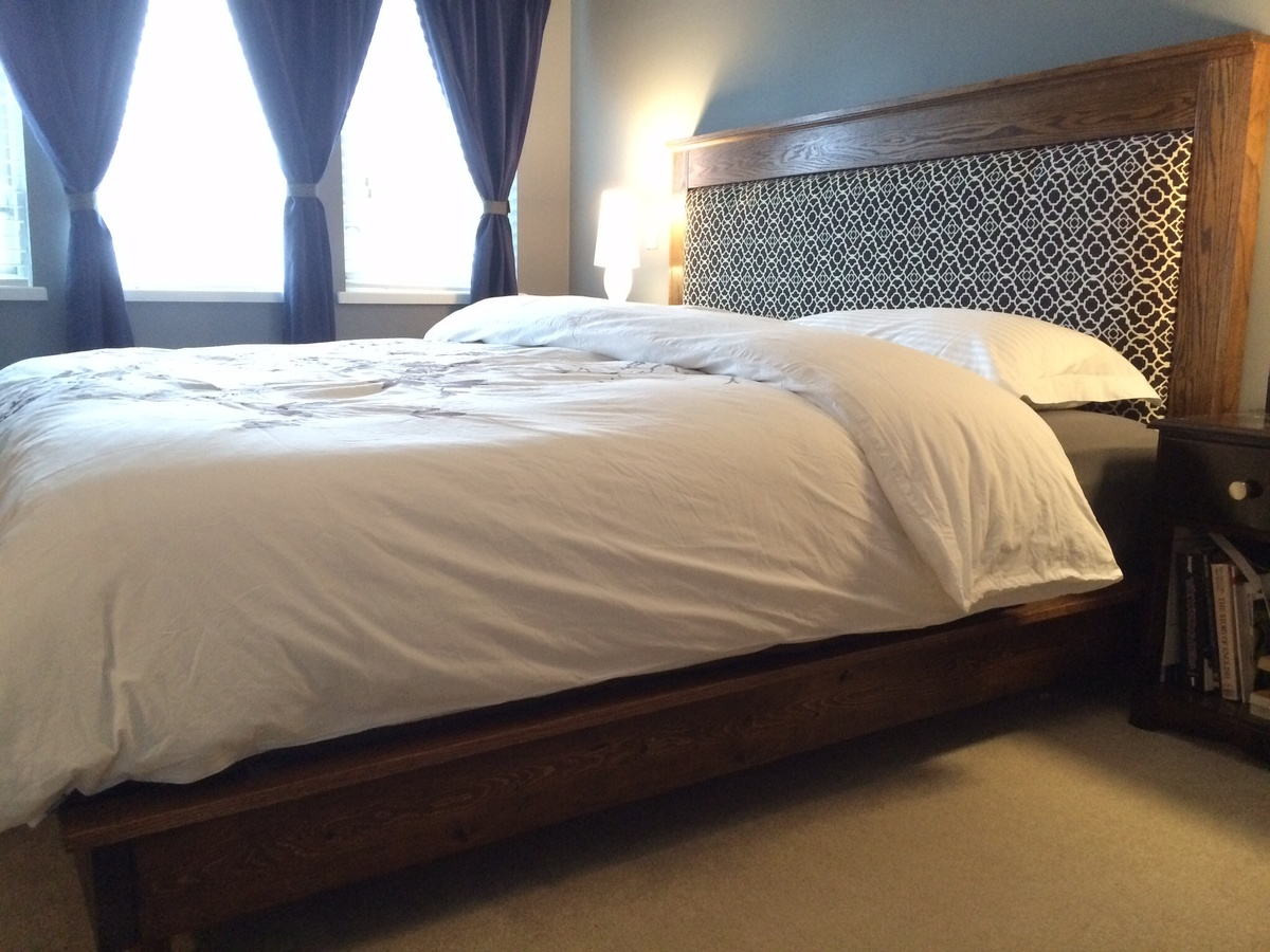 Ana white king size platform bed and headboard diy projects - Kingsize platform beds ...