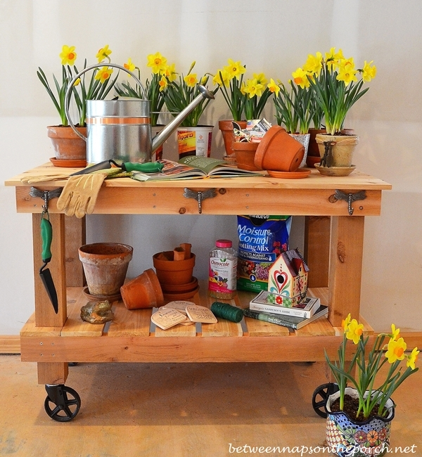 Ana White Potting Bench By Between Naps On The Porch