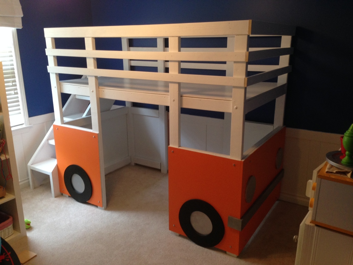 Ana White Henry S Bus Loft Bed Diy Projects