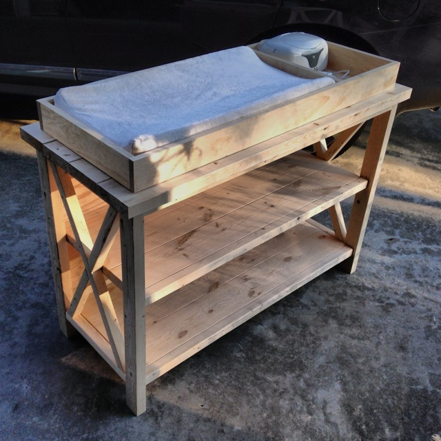 Rustic X Diy Changing Table