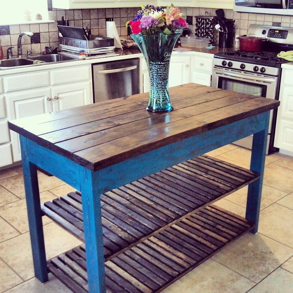 Ana White Distressed Paint Kitchen Island Diy Projects