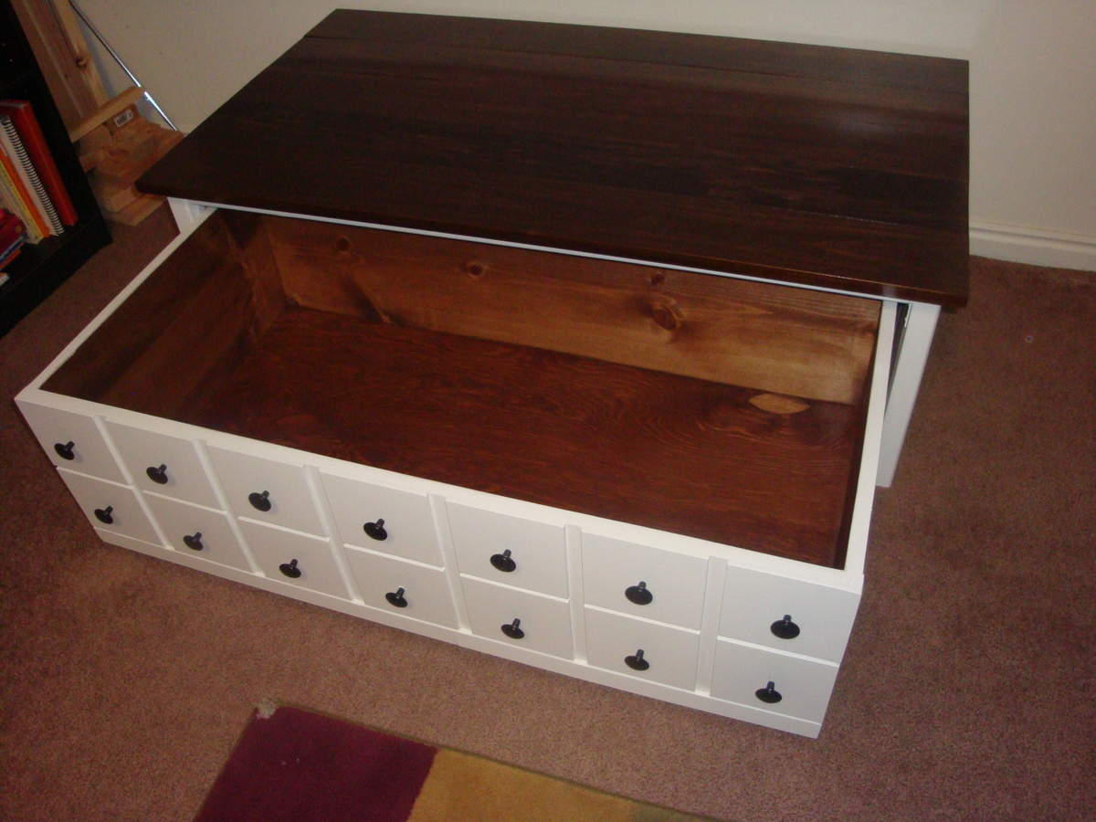 ana white apothecary coffee table diy projects