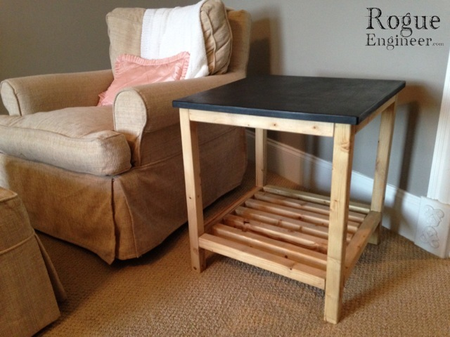 Diy End Table Plans Rogue Engineer