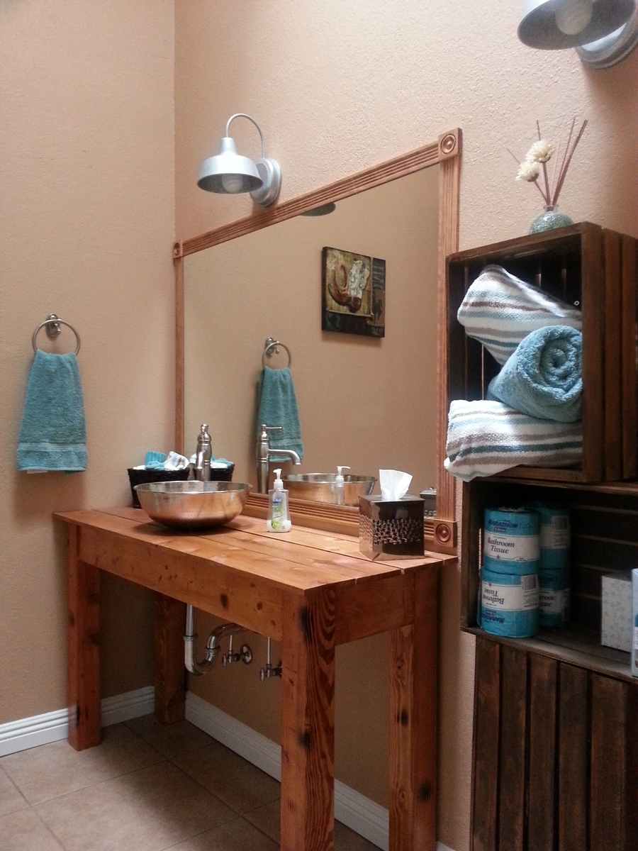 Ana White Farmhouse Rustic Style Vanity Diy Projects