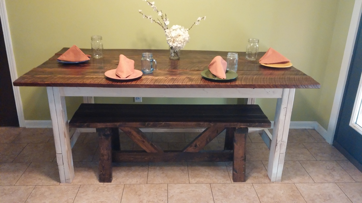 Ana White Old Barnwood Farmhouse Table Diy Projects