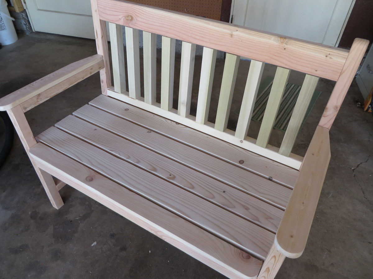 Ana White Straight Slat Bench Diy Projects