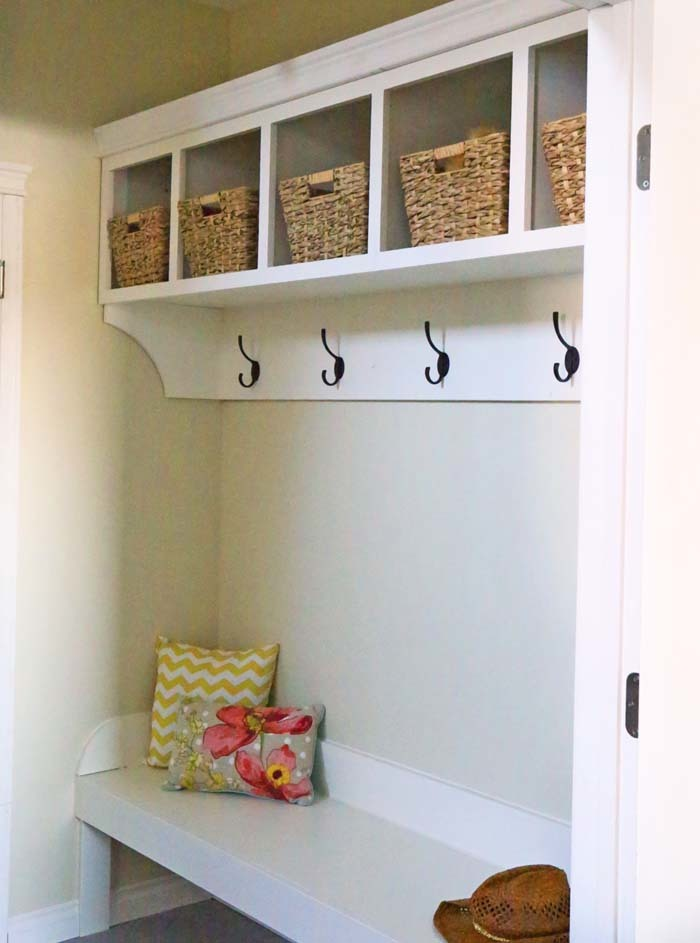 Ana White Large Custom Mudroom Organizer With Cubbies