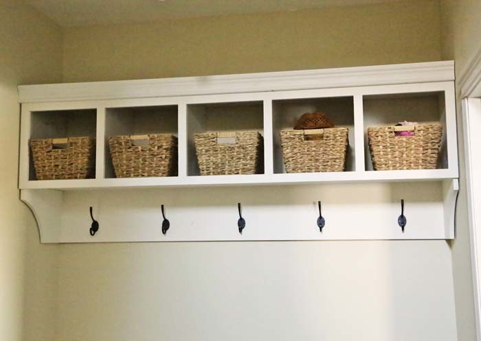 Large Custom Mudroom Organizer With Cubbies And Hooks Ana
