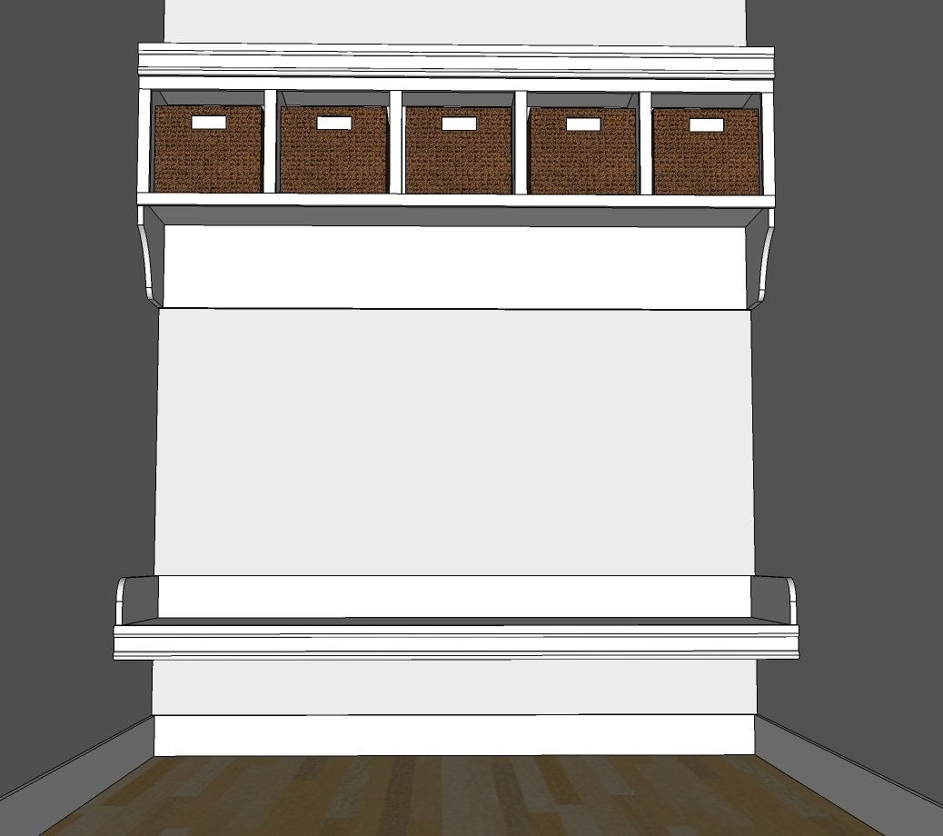 Mudroom Cubbies Plans Ana White Large Custom Mudroom Organizer With Cubbies And Hooks
