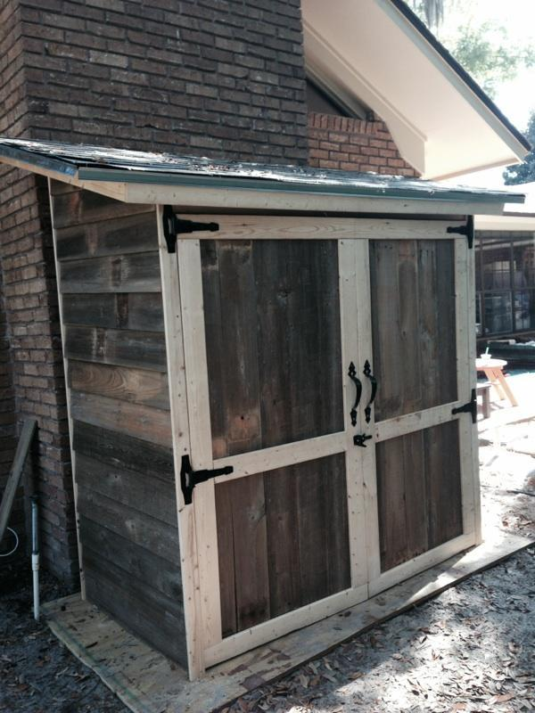 Reclaimed Wood Outdoor Storage Shed