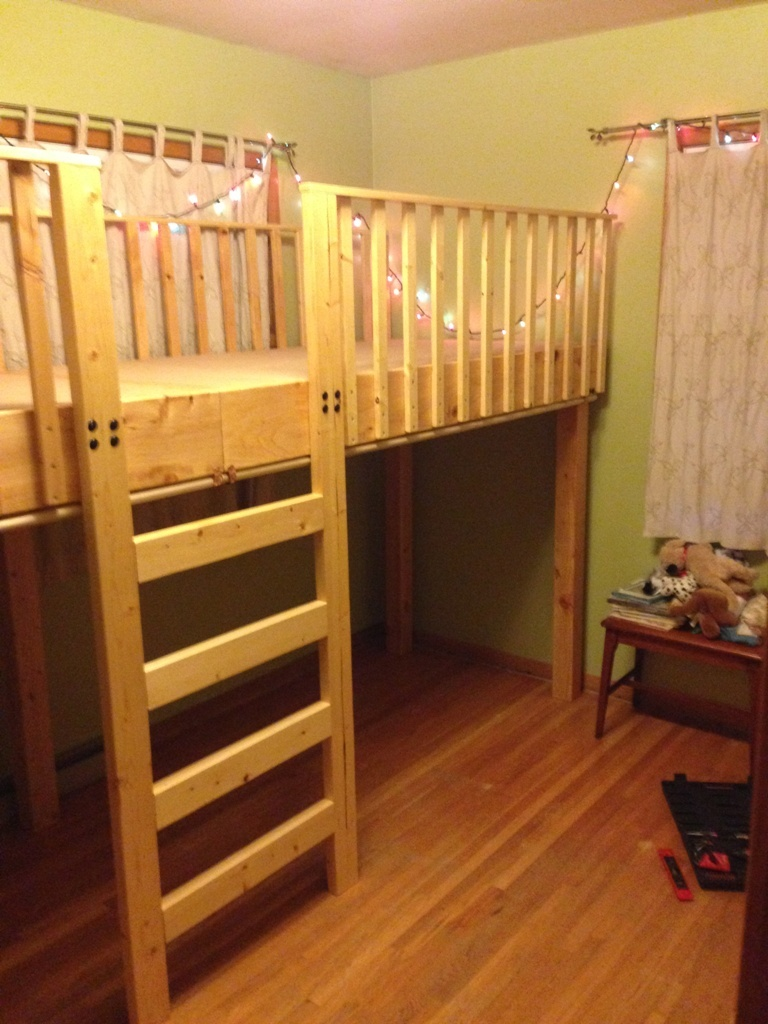 Ana White Double Twin Lift Bed Diy Projects