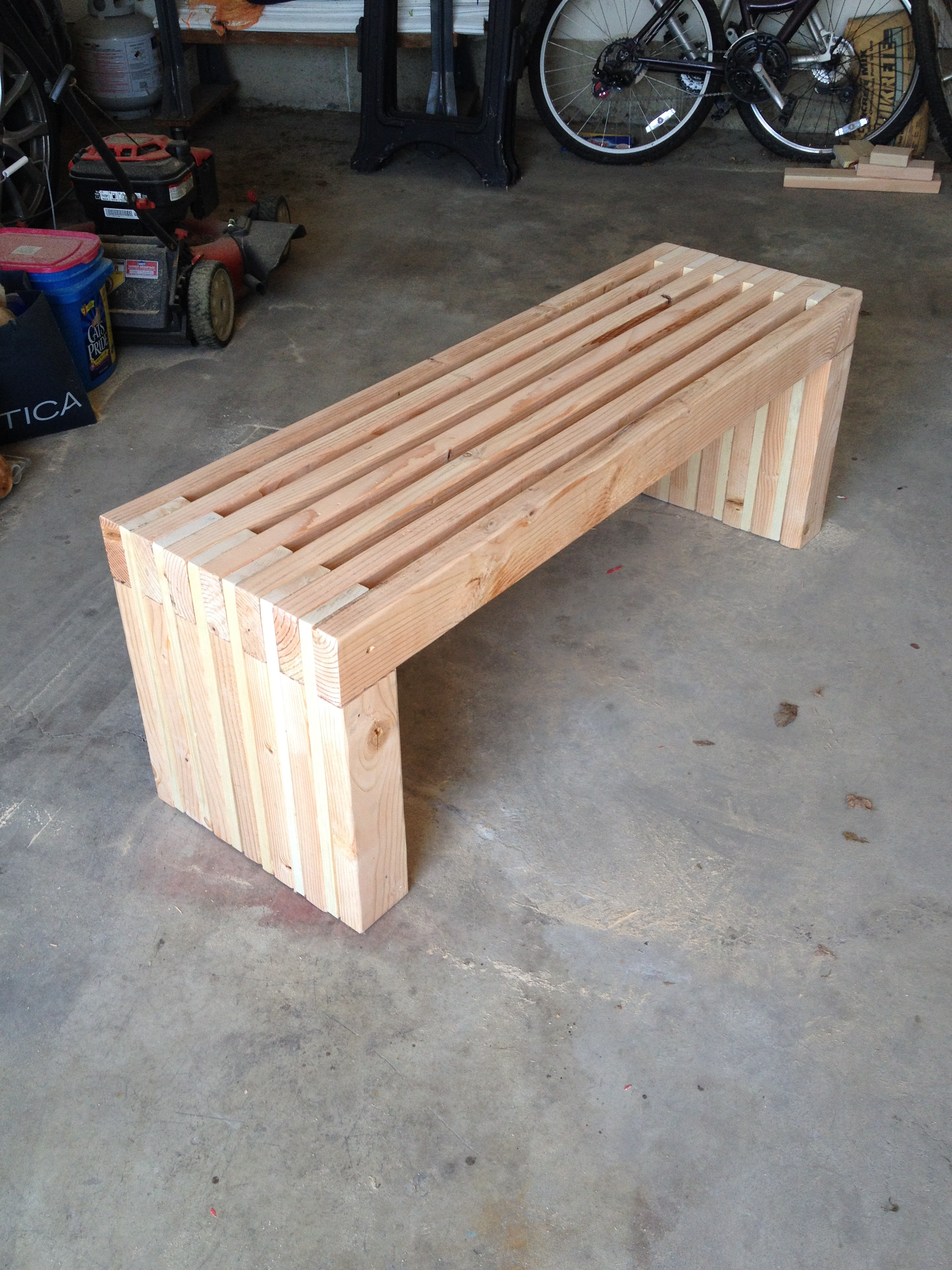Ana White Slat Bench Diy Projects