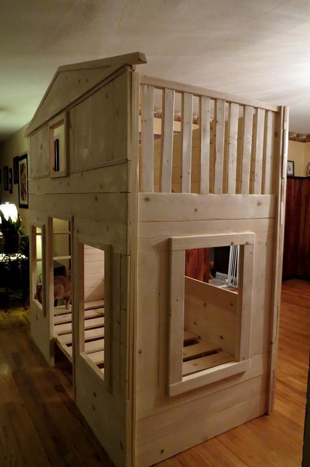 Ana White Cottage Loft With A Bunk Boost Diy Projects