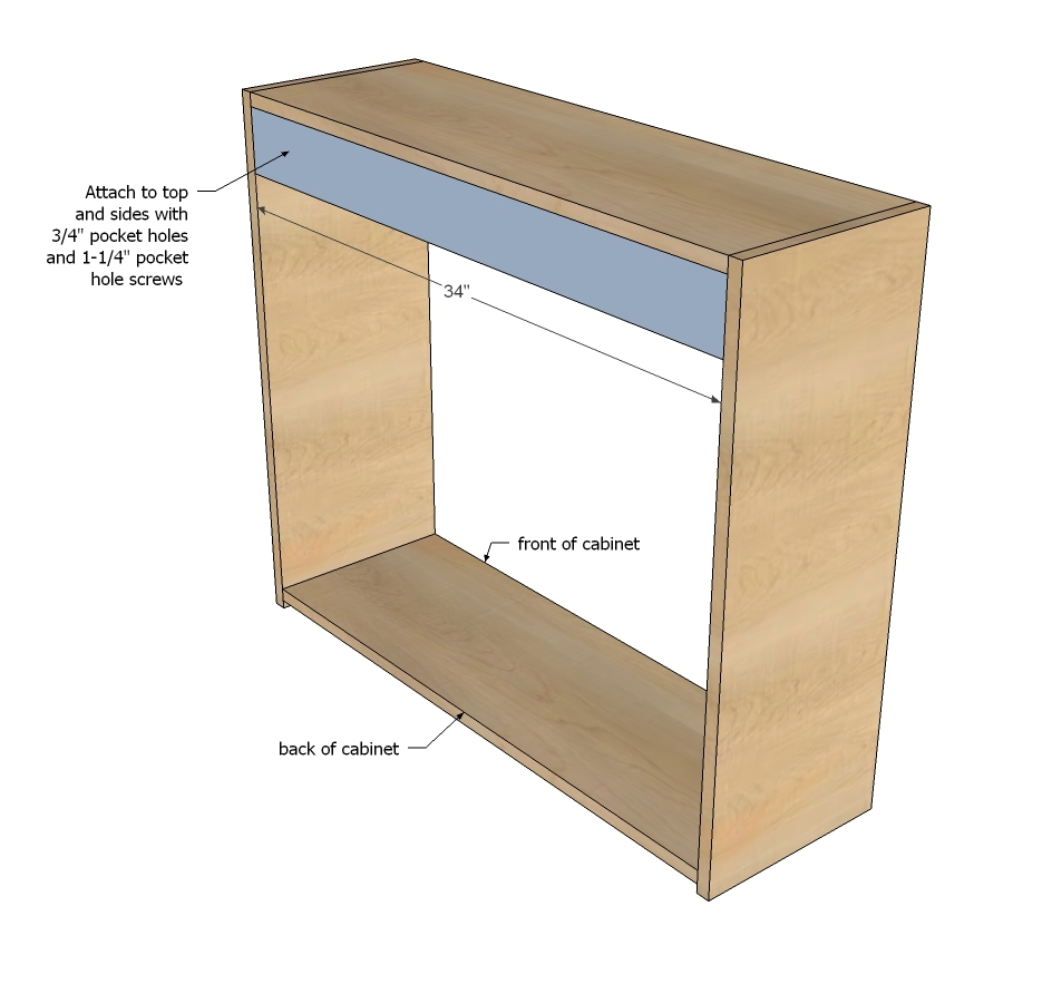 Ana white open wall cabinet 36 wide x 30 tall diy for Building kitchen cabinets with pocket screws